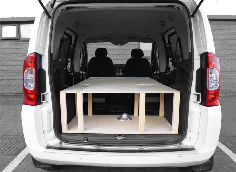 Park up, unfold and turn your car into a functional micro camper van.