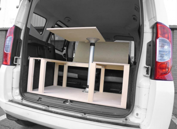 Transform your car into a multi-purpose vehicle in less than 5 minutes.