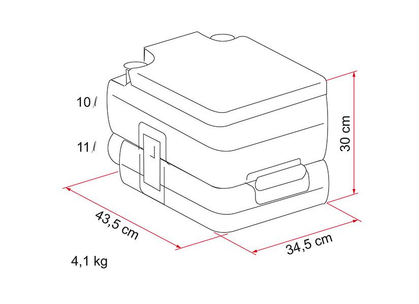 Fiamma Bi-Pot 30 Portable Camping Toilet